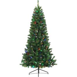 7' Fir Christmas Tree, with 300 Colour Changing LED Lights thumb