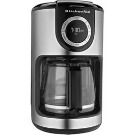 12 Cup Black/Stainless Steel  Basket Coffee Maker thumb