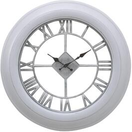 "20"" Grey/Silver Oliver Round Wall Clock thumb"