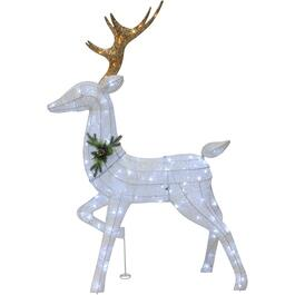 "55"" White Deer Lit Frame thumb"
