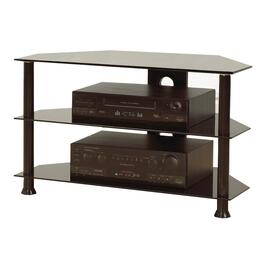 "32"" x 18"" x 18"" Black Metal and Black Glass Television Stand thumb"