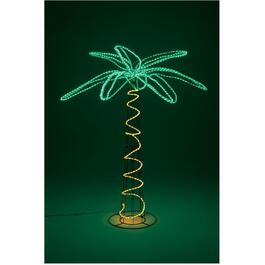 "72"" Palm Tree Lit Frame, with LED Rope Light thumb"