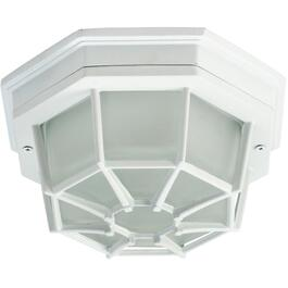 "8.5"" White Outdoor Flushmount Ceiling Fixture thumb"
