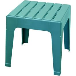 Teal Big Easy Resin Stack Side Table thumb