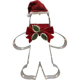 "26"" Cookie Cutter Gingerbreadman Lit Frame, with 30 Lights thumb"
