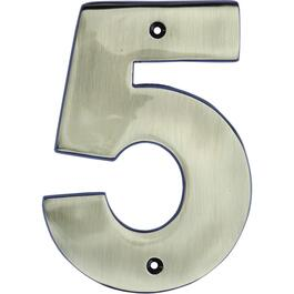 "5"" Antique Nickel '5' House Number thumb"