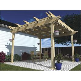 12' x 12' Pressure Treated Pergola Package, with Shutters thumb