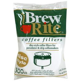 "300 Pack 3-1/2"" White Disc Coffee Filters thumb"