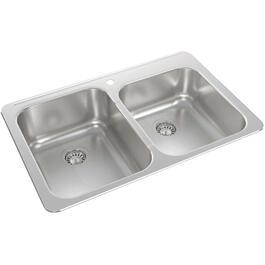 "32"" x 21"" x 8 1/8"" Stainless Steel Drop In Kitchen Sink thumb"