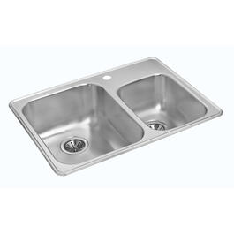 "27 1/4"" x 18"" x 7 1/8"" Stainless Steel Drop In Kitchen Sink thumb"