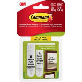 12 Pack of 4lb & 12lb Adhesive Picture Hangers thumb
