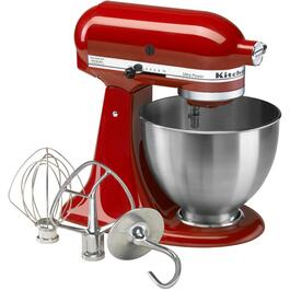 300 Watt 10 Speed Red Ultra Power Stand Mixer, with 4.5 Quart Bowl thumb