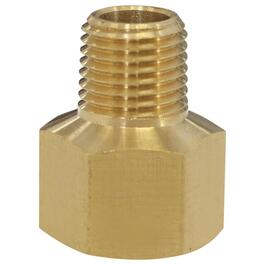 "1/4"" Female Pipe Thread x 1/8"" Male Pipe Thread Brass Adapter thumb"