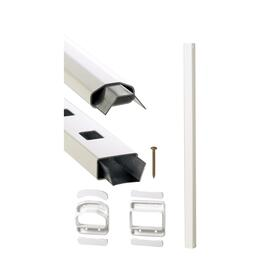 "36"" x 10' Yardcrafters White Classic Line Railing Kit thumb"