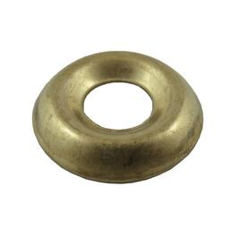 10 Pack #8 Plain Brass Finish Washers thumb