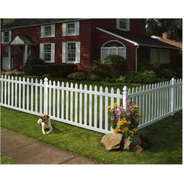 8' Newbury Picket Panel Fence thumb