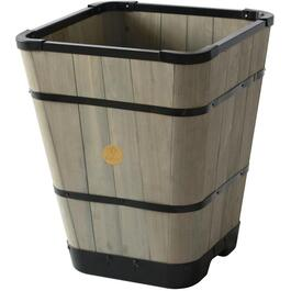 "16"" Grey Wash Tapered Square Wooden Planter thumb"