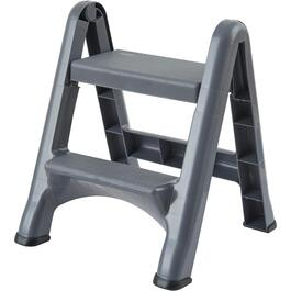 2-Step Dark Grey Folding Step Stool thumb