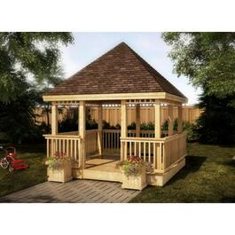 12' x 12' Cedar Square Gazebo Package thumb