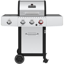 3 Burner 440 sq. in. 30,000BTU Sear+Side Burner Stainless Steel Propane Barbecue, with Cabinet thumb