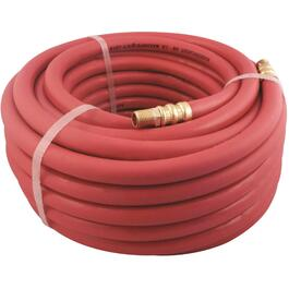 "3/8"" x 50' x 1/4"" Male National Pipe Thread Red Rubber Air Hose thumb"