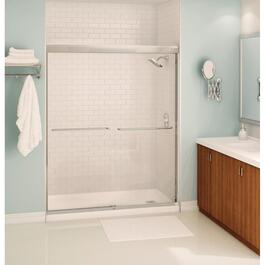"55""-59"" x 71"" Aura Shower Door with Clear Glass and Chrome Trim thumb"