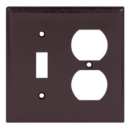 Brown 1-Toggle/1-Duplex Switch/Receptacle Plate thumb