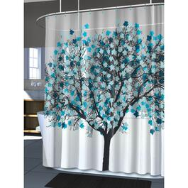 "70"" X 72"" Foliage Peva Shower Curtain thumb"