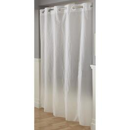 "71"" x 74"" White Flex Ring Liner, For Hookless Shower Curtain/Liner thumb"