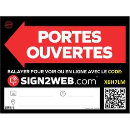 "18"" x 24"" Web Enabled Portes Ouvertes Sign thumb"