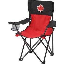 Kids Red/Black Canada Day Camp Chair thumb