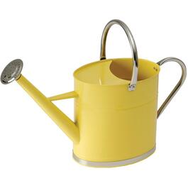 6L Galvanized Watering Can, with Brightly Coloured Yellow Body thumb