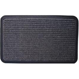 "20"" x 31"" Charcoal Polypropylene Door Mat, with Rubber Back thumb"