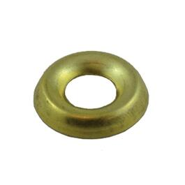 10 Pack #10 Plain Brass Finish Washers thumb