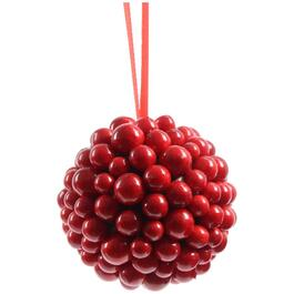 "3.5"" Foam Red Berry Ball Ornament, Assorted Styles thumb"