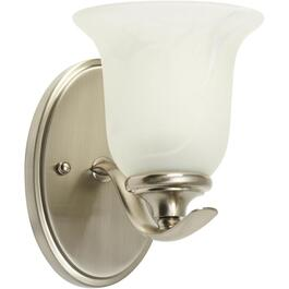 Concord 1 Brushed Nickel Wall Light with Marbled Glass thumb