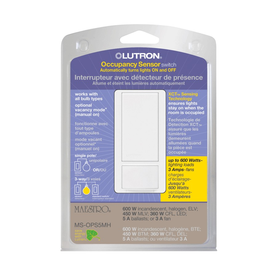 Single Pole Occupancy Sensor Switch With Timer For Small Room Home Have A 110v Motion To Replace Regular Light Or Three Way Large