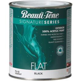 925mL Flat Black Exterior Latex Paint thumb