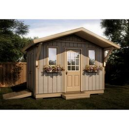 12' x 8' Two Door Gable Shed Package, with Decorative Plywood Siding thumb