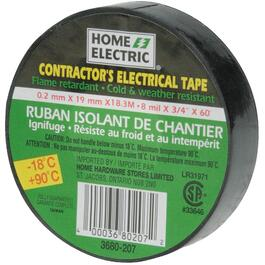 "3/4"" x 60' Electrical Tape Weather Resistant to Minus 18 Degrees thumb"