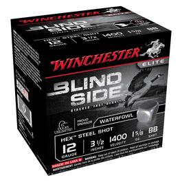 "25 Round 3-1/2"" 12 Gauge #BB Blind Side Ammo thumb"