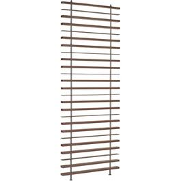 "36"" x 2-1/2"" x 96"" Espresso Room Divider, with Black Hardware thumb"