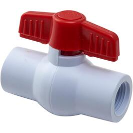 "1/2"" Threaded PVC Ball Valve thumb"