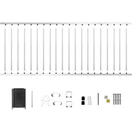 "8' x 42"" White Aluminum Railing Kit thumb"