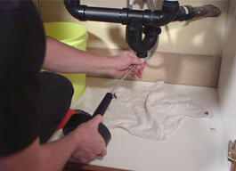 Here's How to unclog a kitchen sink.