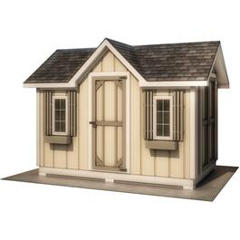 10' x 8' Double Entry Gable Shed Package, with Decorative Plywood thumb