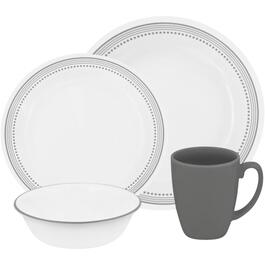 16 Piece Mystic Gray Dinnerware Set thumb