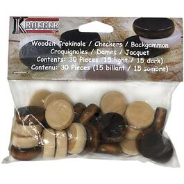 30 Pack Wooden Crokinole Buttons thumb