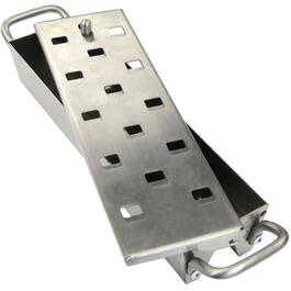 Stainless Steel Barbecue Smoker Box, with Sliding Lid thumb