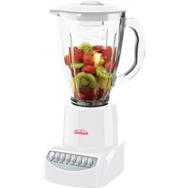 350 Watt 6 Speed White Blender, with Glass Jar thumb